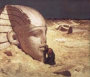 Elihu Vedder The Questioner of the Sphinx oil painting artist