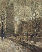 Ernest Lawson The Flatiron Building oil painting picture wholesale
