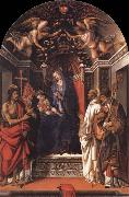 Fra Filippo Lippi Madonna and the child Enthroned with Saint john the Baptist,Victor,Bermard and Zenobius oil painting picture wholesale