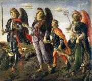 Francesco Botticini Tobias and the ore angels Michael, Rafael and Gabriel oil painting picture wholesale