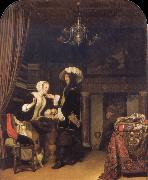 Frans van Mieris The Gentleman in the shop oil painting picture wholesale
