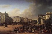 Franz Kruger Parade on Opernplatz in 1822 oil painting picture wholesale