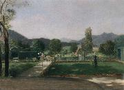 Friedrich August von Kaulabch Garden in Ohlstadt Spain oil painting artist