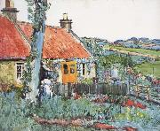 George Leslie Hunter Cottage,Near Largo oil painting artist