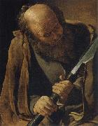 Georges de La Tour The apostle Thomas oil painting picture wholesale