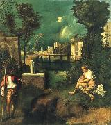 Giorgione The storm oil painting artist