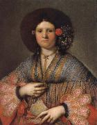 Girolamo Forabosco Portrait of a Venetian Lady oil painting artist