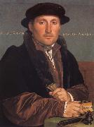 Hans holbein the younger Portrait of a young mercant Spain oil painting artist