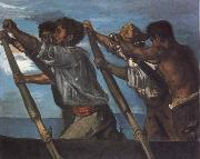 Hans von Maress Oarsmen.Study for a Fresco at the Zoological Station in Naples oil painting picture wholesale