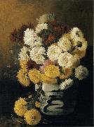Hirst, Claude Raguet Chrysanthemums in a Canton Vase oil painting artist