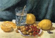 Hirst, Claude Raguet Still Life with Lemons,Red Currants,and Gooseberries oil painting picture wholesale