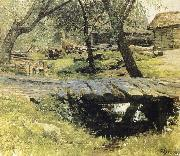 Isaac Levitan Small Beucke in the village Sawwinskaja Sloboda oil painting picture wholesale