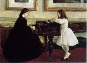 James Mcneill Whistler At the Piano oil painting picture wholesale