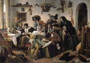Jan Steen Topsy-turvy world oil painting picture wholesale