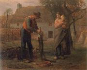 Jean Francois Millet Peasant Grafting a Tree oil painting picture wholesale