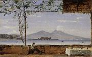 Johann Jakob Ulrich Seaside Terrace near Naples oil painting artist