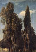 Johann Wilhelm Schirmer Cypresses oil painting picture wholesale