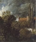John Constable View in  Garden at Hampstead,with a Red House beyond oil painting picture wholesale