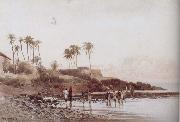 John varley jnr Old Portuguese Fort near Bombay oil painting picture wholesale