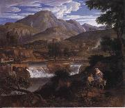 Joseph Anton Koch Waterfalls at Subliaco oil painting picture wholesale