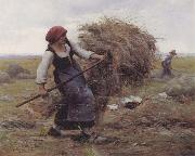 Julien  Dupre The Hay Gatherer oil painting picture wholesale