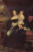 Karl Briullov Portrait of Olga davydova with Her Daughter Natalia oil painting picture wholesale