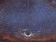 Karl friedrich schinkel In the palace of the Queen of the Night,decor for Mazart-s opera Die Zauberflote oil painting artist