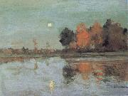 Levitan, Isaak Dam ring moon oil painting reproduction