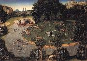 Lucas Cranach the Elder Stag hunt of Elector Frederick the Wise oil painting picture wholesale