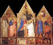 Matteo Di Pacino St.Bernard-s Vision of the Virgin with Saints oil painting picture wholesale