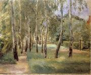 Max Liebermann The Birch-Lined Avenue in the Wannsee Garden Facing West oil painting picture wholesale