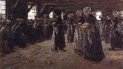 Max Liebermann The Flax Spinners oil painting picture wholesale