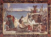 Pierre Puvis de Chavannes Marseilles,Gateway to the Orient oil painting picture wholesale