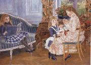 Pierre-Auguste Renoir Children-s Afternoon at Wargemont oil painting picture wholesale