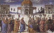 Pietro Perugino Christ giving the Keys to St.Peter oil painting picture wholesale