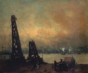 Robert Henri Derricks on the North River oil painting picture wholesale