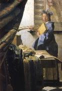 VERMEER VAN DELFT, Jan The Artist in his studio oil painting picture wholesale