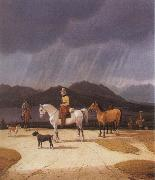 Wilhelm von Kobell Riders at the Tegernsee oil painting picture wholesale