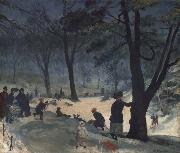 William Glackens Central Park oil painting picture wholesale