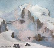 William Stott of Oldham An Alpine Peak oil painting picture wholesale