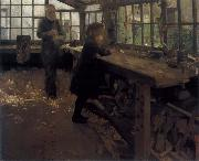 William Stott of Oldham Grandfather-s Workshop oil painting picture wholesale
