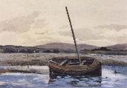 William Stott of Oldham Boat at Low Tide oil painting picture wholesale