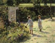 Wladyslaw Podkowinski Children in the Garden oil painting picture wholesale