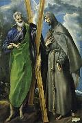 unknow artist Hl. Andreas and Hl. Franziskus, el Greco(1540-1614) oil painting picture wholesale