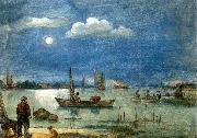 AVERCAMP, Hendrick Fishermen by Moonlight oil painting picture wholesale