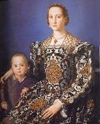 Agnolo Bronzino Portrait of Eleonora da Toledo with her Son Giovanni de-Medici oil