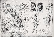 Albrecht Durer Sketch Sheet with the Rape of Europa oil painting picture wholesale