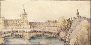 Albrecht Durer The covered Footbridge at the haller Gate in Nuremberg oil painting picture wholesale