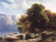 Alexandre Calame THe Lake of Thun oil