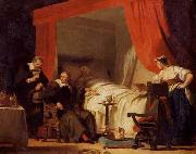 Alexandre-Evariste Fragonard Cardinal Mazarin at the Deathbed of Eustache Le Sueur oil painting picture wholesale